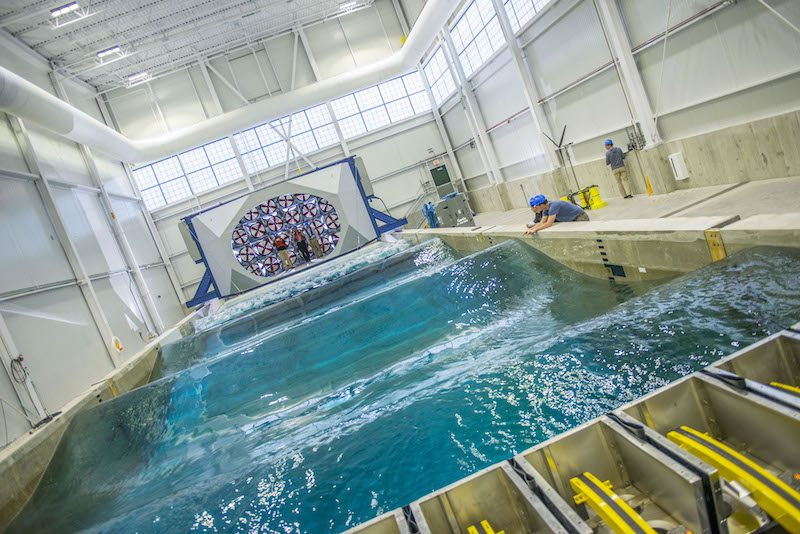 Alfond W2 Ocean Engineering Laboratory, University of Maine. We tested here twice in 2018. © University of Maine