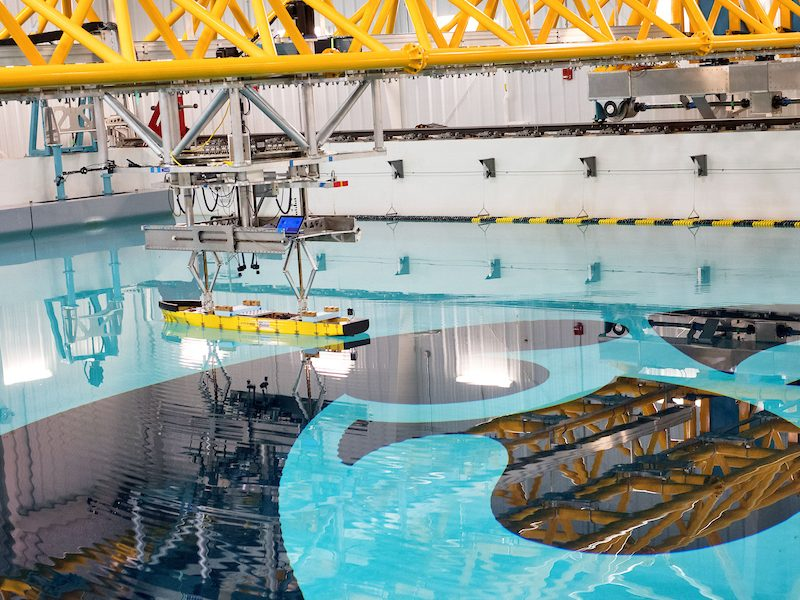 University of Iowa wave basin. We tested here for the U.S. Wave Energy Prize with team Waveswing America in 2016. © University of Iowa
